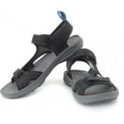 Clarks Men Black Leather Sports Sandals