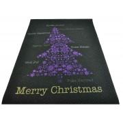 Tappeto nero Albero di Natale passatoia 100x134 cm. N2