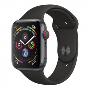Apple Watch Series 4 GPS + Cellular, 44 mm Alluminio Color Grigio Siderale e Cinturino Sport Nero