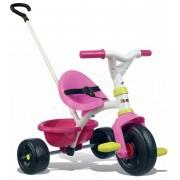 Tricicletă Be Fun Pink Smoby cu mâner de împins de la vârsta de 15 luni roz-verde 68*52*52 cm SM740322