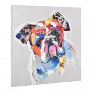 [art.work] Ručně malovaný obraz - bulldog - plátno napnuté na rámu - 60x60x3,8 cm
