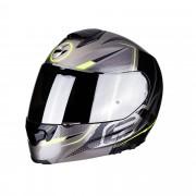 Scorpion Casco Moto Modulare Exo-3000 Air Creed Titanium Black Neon Yellow