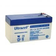 Batteria al Piombo AGM Professionale UL1.3-12 Ultracell UK 12V DC 1.3AH