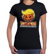 Trumpkin make Halloween great again t-shirt zwart voor dames XS