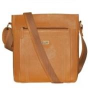 Kan Tan Genuine Leather Crossbody Bag/Messenger Bag/Backpack for Men & Women 7 L Backpack(Tan)