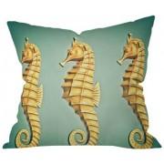 """DENY Designs Shannon Clark Angelic Throw Pillow, Caballos de mar, 26""""x26"""", 1"""