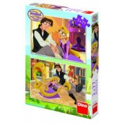 Puzzle 2 in 1 - Tangled - 77 piese