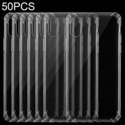 Apple 50 PCS uiterst dunne transparante TPU zacht beschermhoes voor iPhone XS (transparant)