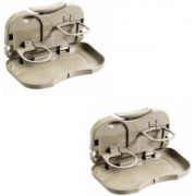 Speed Foldable Car Dining Meal Drink Tray SET OF 2-Renault Pulse(Beige)