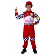 Vegaoo Racerförardräkt för barn till maskisen 104 - 116 cm (4-6 år)