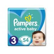 Pampers Active Baby pelene, 3 veličina, 54 kom.