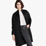 Manteau mi-long en mélange laine