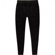 River Island Mens Black muscle fit jersey joggers