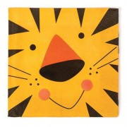 Animal-themed Party Napkins - 16 Jungle Animal napkins for children parties. 33cm wide. 2 ply tissue. Matching partyware available.