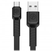 YK USB 2.0 / MicroUSB Data And Charging Cable - Black