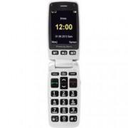 Primo by DORO 413 telefon pro seniory - véčko nabíjecí stanice stříbrná