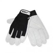 Mănuși de protecție din piele de porc pe palme, Dedra negru, marimea XL Autolux