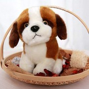 Smilesky Stuffed Puppy St. Bernard Dog,Plush Animal Toys, For Kids 7