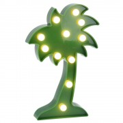 Home Styling Collection Zářící výzdoba COCONUT TREE, figurka LED