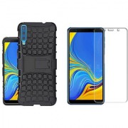 Samsung Galaxy A7 (2018) Tyre Cover With Tempered Glass Best Deal Standard Quality