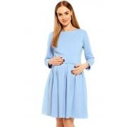 Celeste kismama és szoptatós ruha, kék XXL