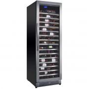 Vitrina de vinuri Nevada Concept NW171S-SSL, 171 sticle, negru/inox