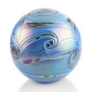 Grote Glazen Bal Dieren Urn Elan Blue (4 liter)