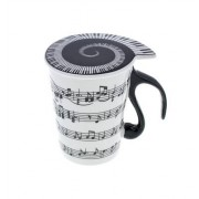 "Music Sales Cup with Lid """"Staff Lines"""""