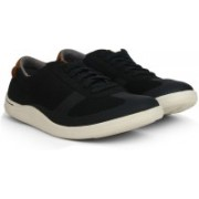 Clarks Mapped Vibe Black Combi Sneakers For Men(Black)