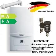 Pachet centrala termica in condensatie VAILLANT ecoTEC pure VUW 286/7-2, 26,1 kW - Incalzire + A.C.M. + fltru Sentinel VORTEX 300
