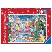 Puzzle Craciunul Printeselor Disney, 500 Piese Ravensburger