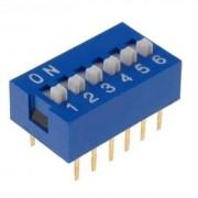 Life Dip Switch 6 Poli Per Circuiti Stampati Passo 2,54 Mm Tcs