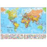 Wereldkaart 64P-mvlE Politiek, 101 x 72 cm | Maps International