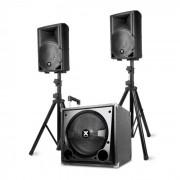 "Vonyx VX800BT 2.1-Aktiv-Lautsprecher-Set 800W 12"" Sub 2x8"" Speaker BT USB SD"