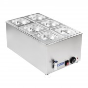 Bain-marie - GN container - 1/6 - drain tap