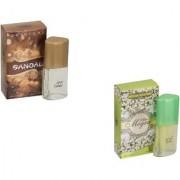 Skyedventures Set of 2 Sandel 20ml-Attar Mogra 20ml Perfume