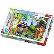 Puzzle Trefl 100 pcs, Soapte si prieteni