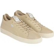 Puma Basket Classic Sock Lo Solstice Sneakers For Men(Beige)