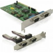 Placa PCI Delock 4 x serial RS232