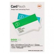 GBC Laminating Pouches Glossy 2 x 125 (250 Micron) ID 100 Pieces