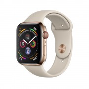 Умные часы Apple Watch Series 4 GPS + Cellular 44mm Gold Stainless Steel Case with Sport Band MTX42 (Золотистый)