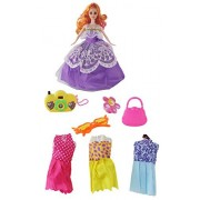 "Fashionable 11.5"" (29cm) Fashion Model Doll, Doll Set, tons of Accessories Included! This Toy Doll Comes with Three Wardrobe Changes, a Purse and More!"