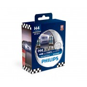 SET 2x Bec auto Philips RACINGVISION 12342RVS2 H4 P43t-38/55W/12V