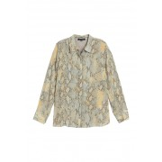 Lafayette 148 New York Scottie Snake Print Blouse SILVER SAGE MULTI