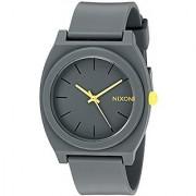 Nixon Womens A1191244 Time Teller P Analog Display Japanese Quartz Grey Watch
