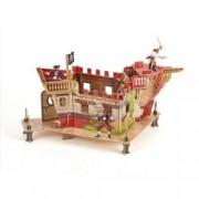 Set Figurine Papo - fort pirati carton+3 figurine
