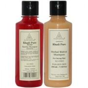 Khadi Pure Reetha and Walnut Shampoo SLS Free Combo (420ml) Pack 2