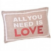 Perna decorativa All You Need Is Love 53x35 cm
