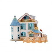 LLZJ Child Doll House DIY Kids Handmade Toys Puzzle Paper Model Birthday Gift Room Playset Houses Assembling Families