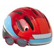 Lazer kinderhelm Blub met zonnebril junior 46 52 cm rood/oranje